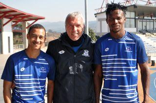 Maritzburg United trio Brandon Theron, Ernst Middendorp and Richard Zumah