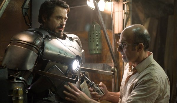 Iron Man Robert Downey Jr. Tony and Yinsen boot up the first suit