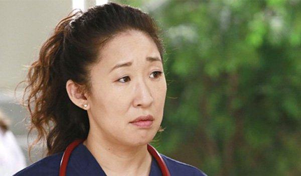 Sandra Oh as Dr. Cristina Yang on Grey's Anatomy