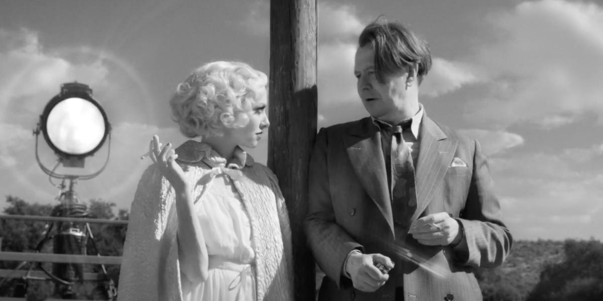 Amanda Seyfried and Gary Oldman in Mank
