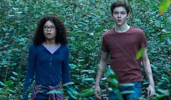 A Wrinkle In Time Storm Reid Levi Miller standing in the woods