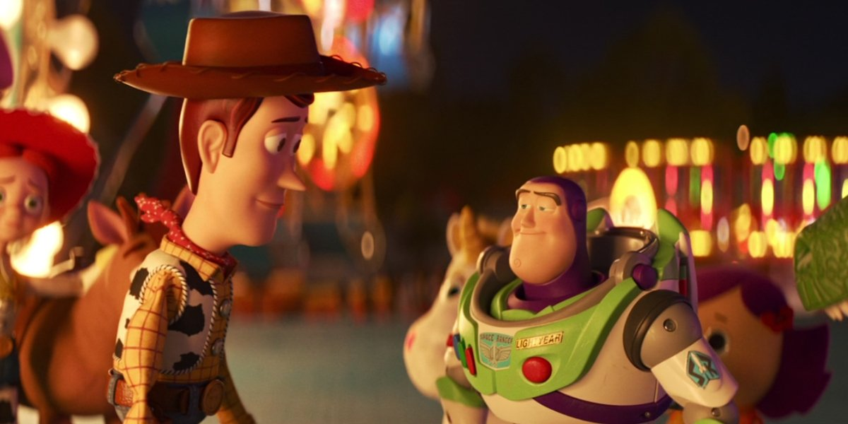 Woody and Buzz saying goodbye