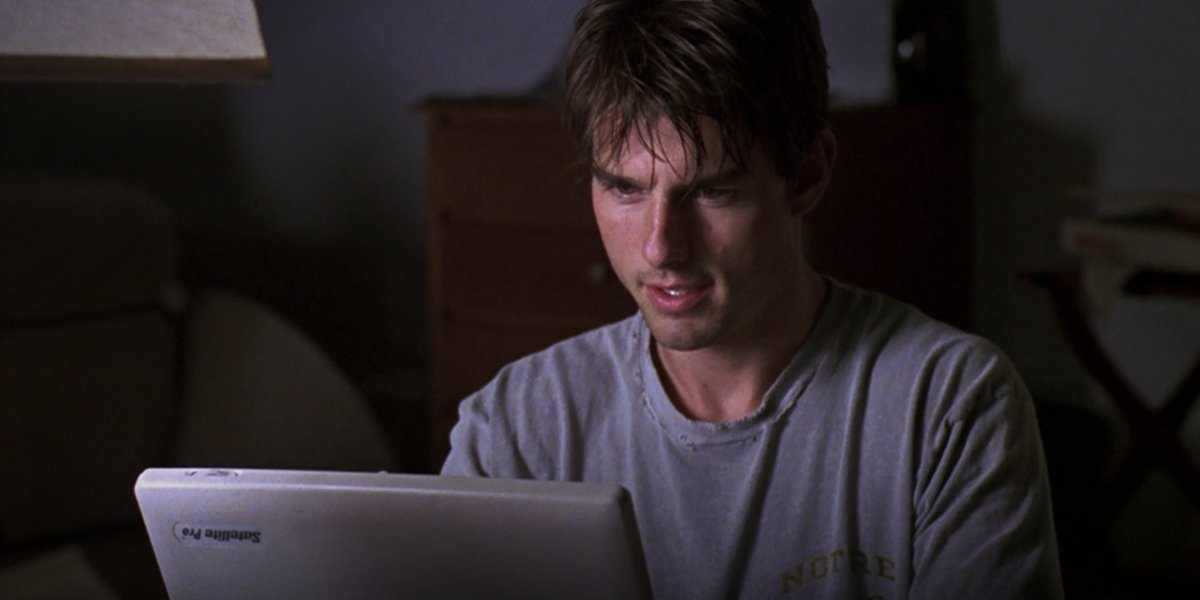 Tom Cruise writes his Mission Statement in Jerry Maguire