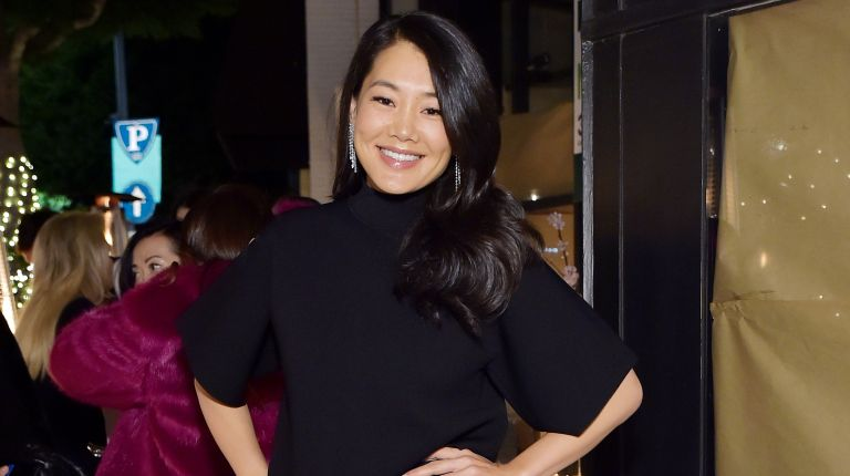 Crystal Kung Minkoff attends Kathy Hilton's Birthday hosted by Christine Chiu, Tina Craig, and Cade Hudson at Mr Chow on March 12, 2021 in Beverly Hills, California