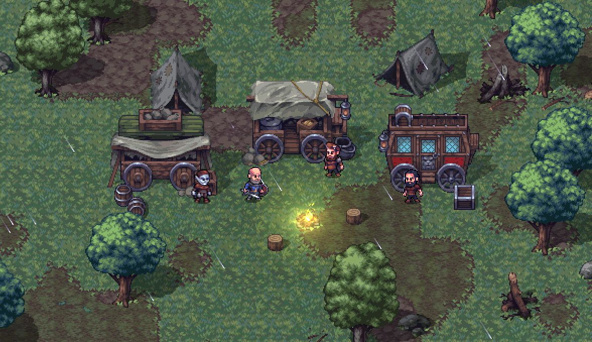Try the first few hours of Stoneshard, a medieval RPG about building a caravan