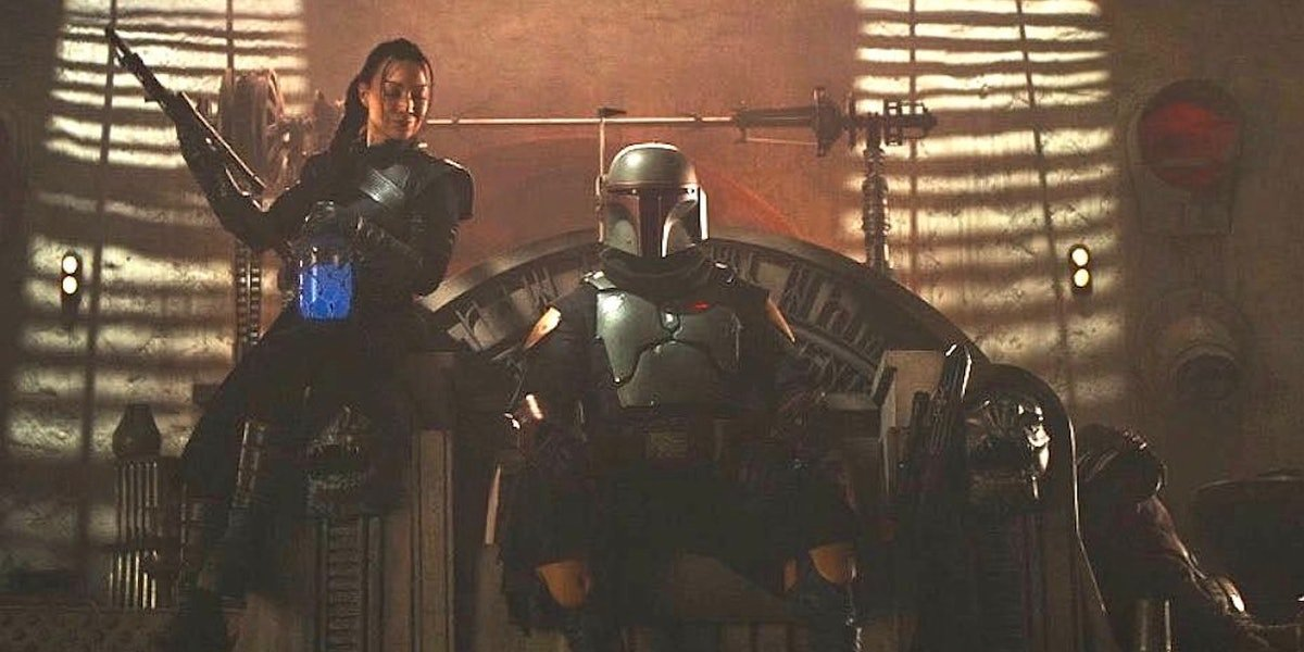 Ming-Na Wen and Tamuera Morrison from The Book of Boba Fett
