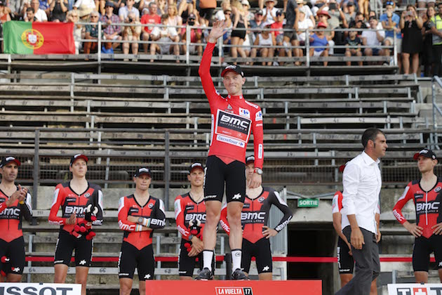 Thumbnail Credit (cyclingweekly.com) (Photo: Yuzuru Sunada): BMC's performance put Rohan Dennis into the red jersey (Credit: Yuzuru Sunada)