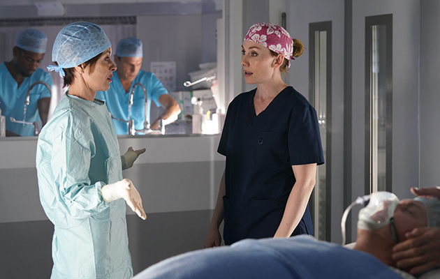 Holby crossover Connie and Jac