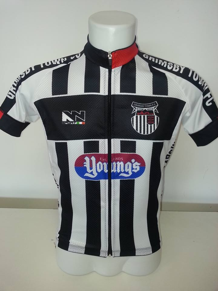 Grimsby Town release a cycling jersey that is a replica of their football  kit f88b36ac3