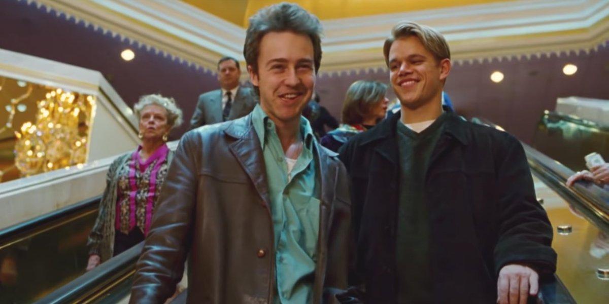 Edward Norton and Matt Damon in Rounders