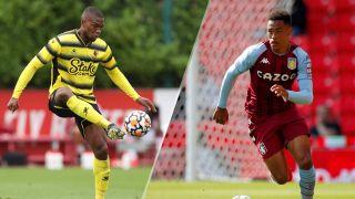 Watford vs Aston Villa live stream Premier League game: Christian Kabasele of Watford and Aaron Ramsey of Aston Villa