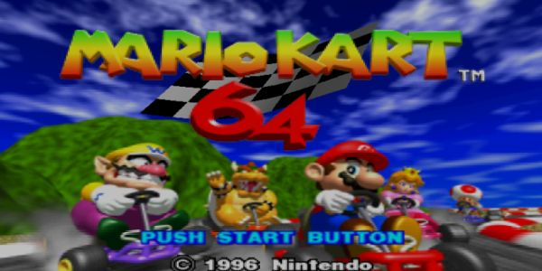 An old copy of Mario Kart 64.