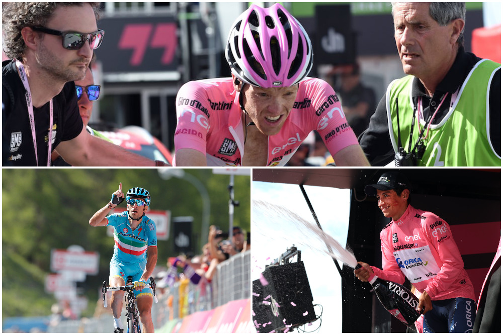 Thumbnail Credit (cyclingweekly.co.uk): Steven Kruijswijk relinquished the pink jersey to Esteban Chaves on a gruelling day at the Giro d'Italia