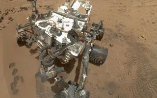 High-Resolution Self-Portrait by Curiosity Rover Arm Camera