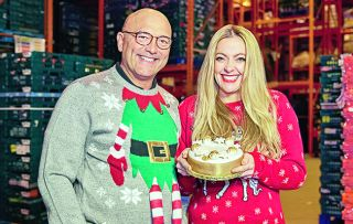 Gregg Wallace and Cherry Healey meet the people behind our festive foods.