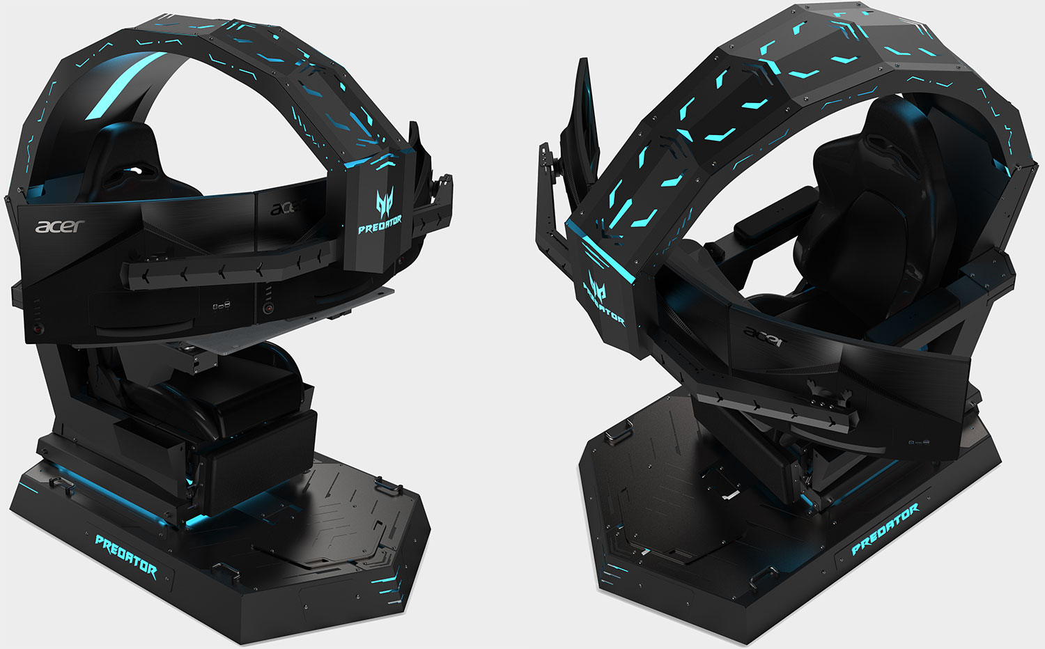 Acer's new 485-pound 'gaming chair' has room for a PC and three monitors