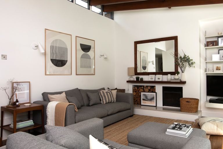 grey and white living room ideas