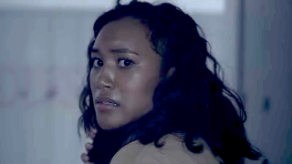 Makani Young runs from a killer in There's Someone Inside Your House screenshot