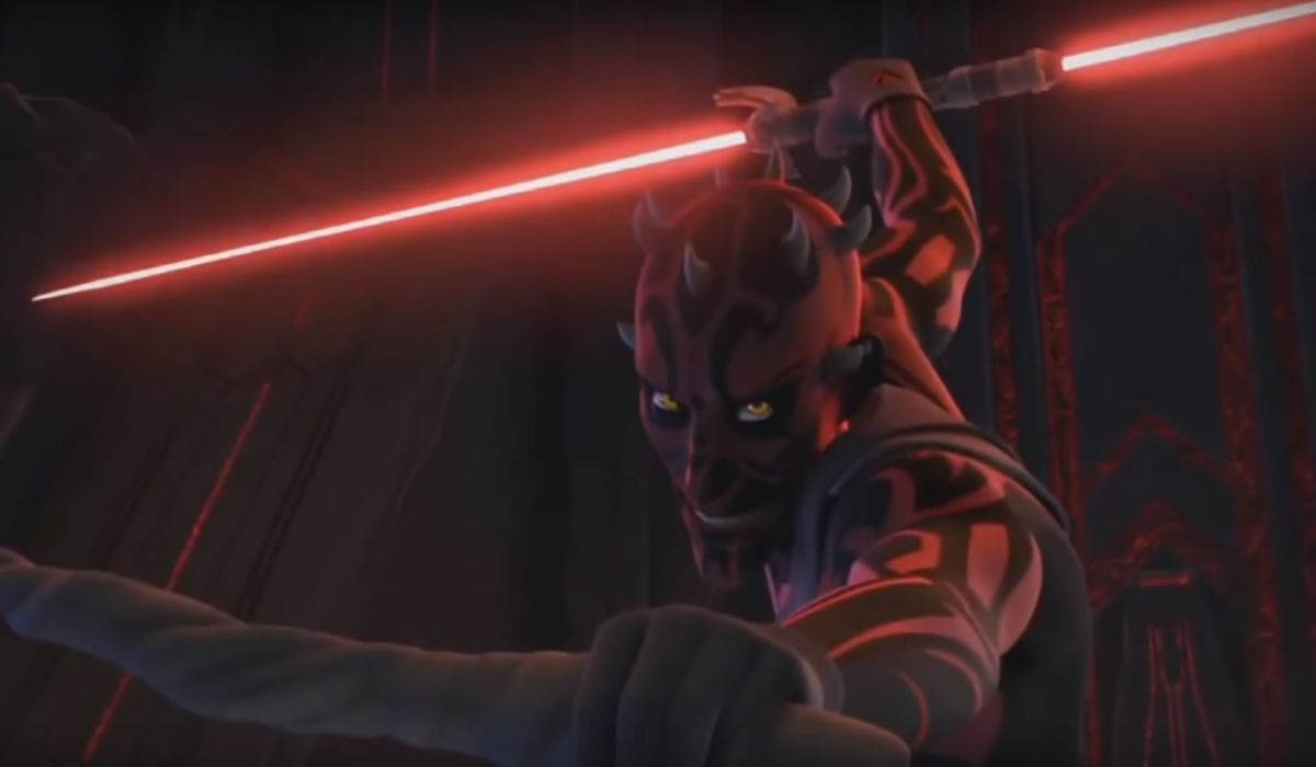 Maul with lightsaber