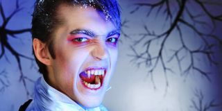 man dressed an vampire
