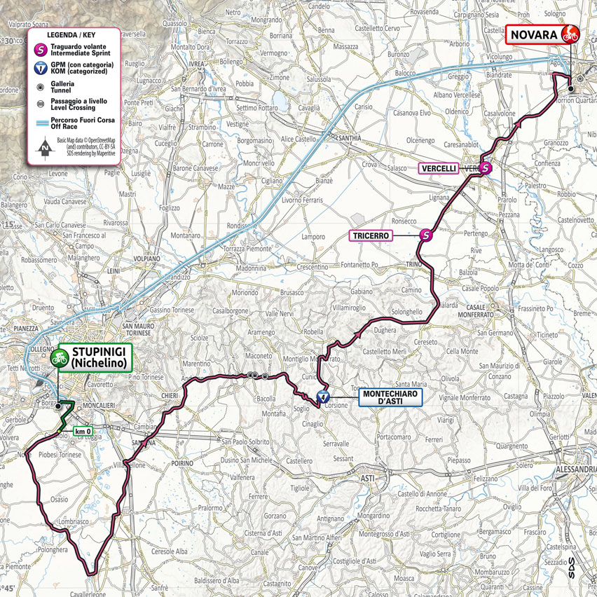 stage 2 map for 2021 Giro d'Italia
