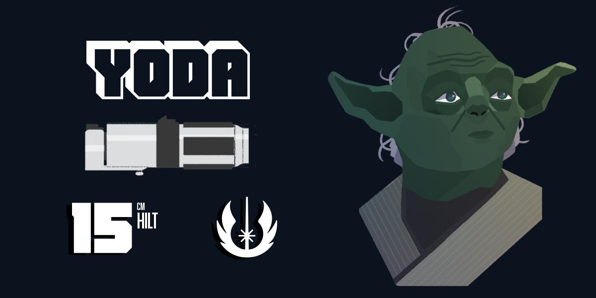 Yoda and his lightsaber statistics