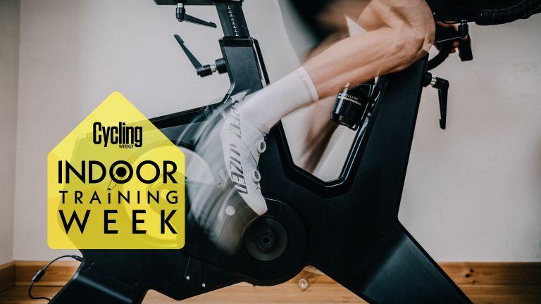 Cylcing on indoor training bike
