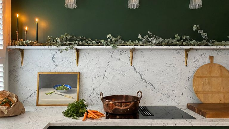 small green kitchen makeover by deVOL