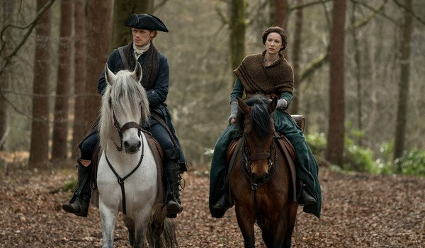 outlander season 4 jamie fraser claire fraser horses starz