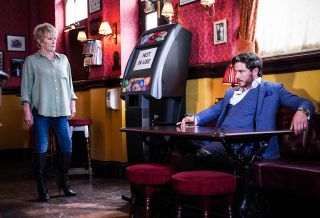 Gray Atkins has a revelation for Shirley Carter in EastEnders