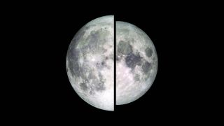 Supermoon and typical full moon in comparison