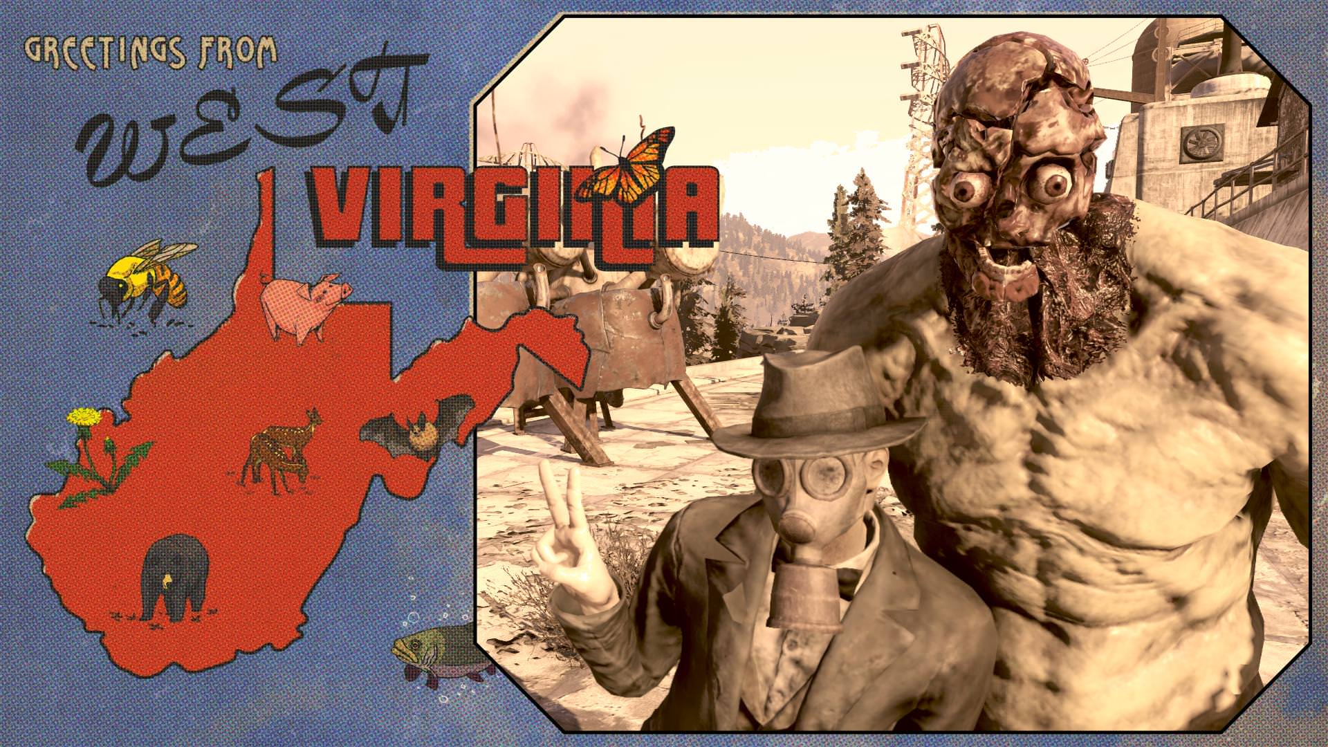 Fallout 76 players are making wonderful postcards from bugs