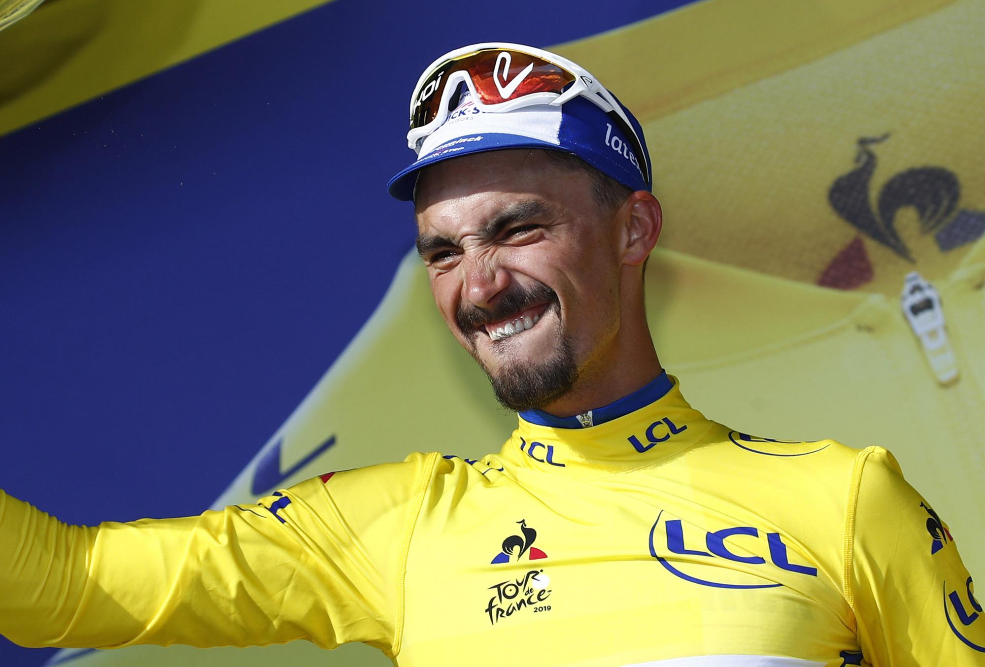 Tour de France: Alaphilippe regains maillot jaune with