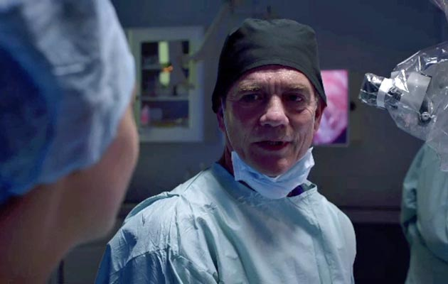 Holby Guy struggles to operate
