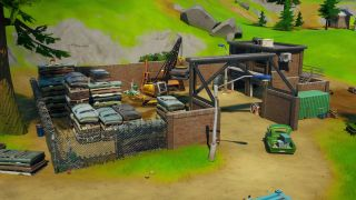 Fortnite collect metal at Hydro 16 or Compact Cars