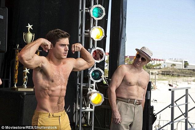 Dirty Grandpa Zac Efron and Robert DeNiro Shirtless