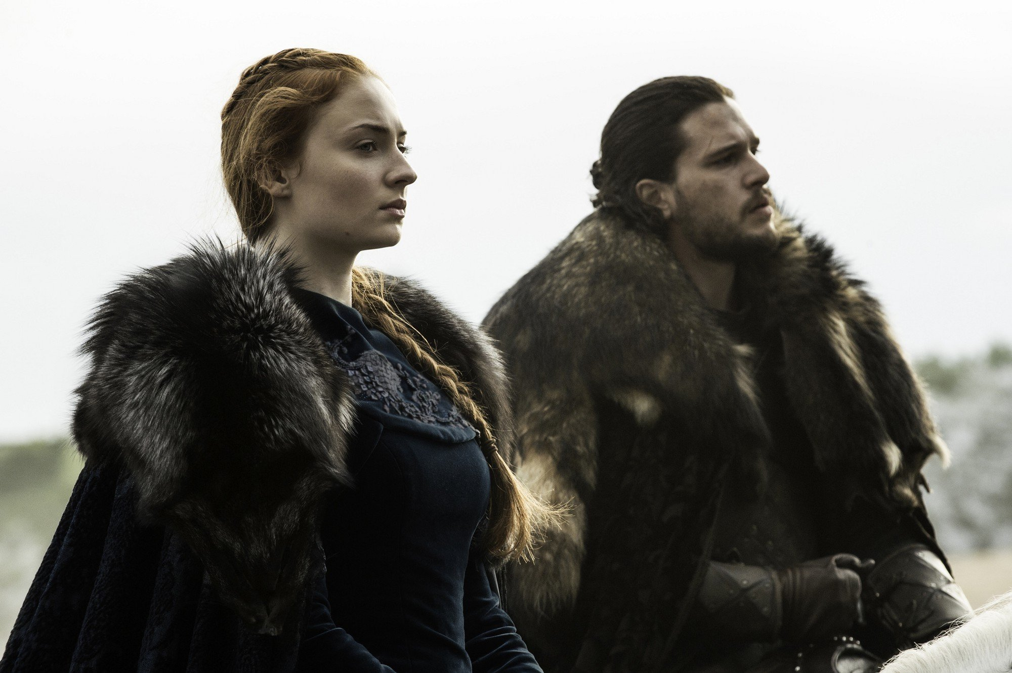 Game of Thrones Sansa Stark Sophie Turner Jon Snow Kit Harington