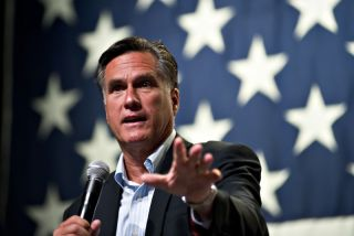 Mitt Romney at a town hall meeting in Arizona.