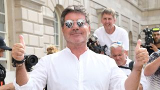 Simon Cowell at a launch for The X Factor