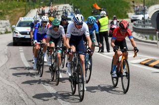 Briton in the break for first time during comeback, though teammate Dan Martin loses GC time after fall