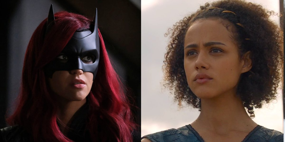 Ruby Rose in Batwoman and Nathalie Emmanuel in Game Of Thrones