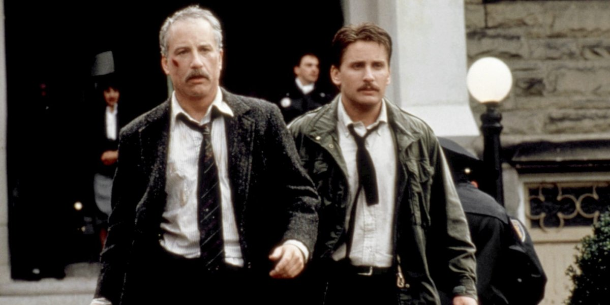 Richard Dreyfuss and Emilio Estevez in Stakeout