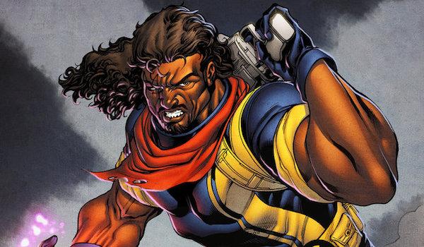 X-Men comics Bishop holding gun