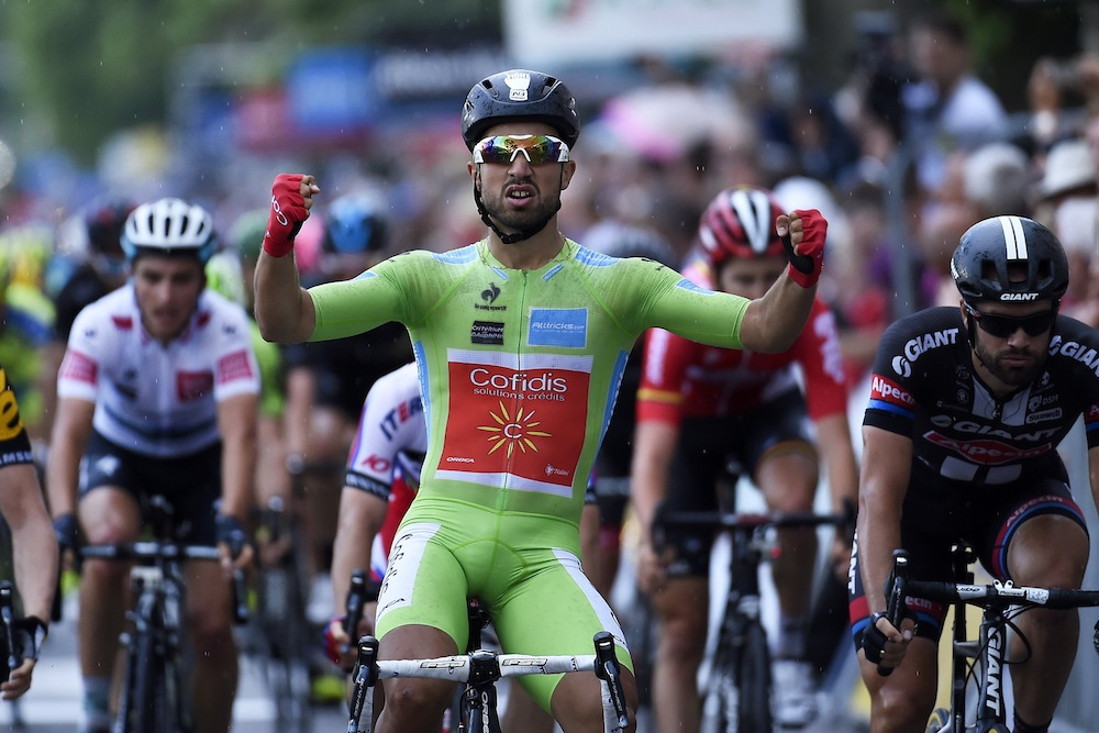Nacer Bouhanni wins stage four of the 2015 Dauphine-LIbere