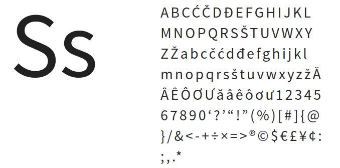 Best free fonts: Source sans pro
