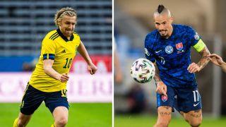Ruotsi Slovakia jalkapallon em-kisat 2021