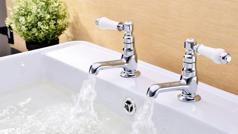 Classic 1845 basin taps by The Pure Bathroom Collection