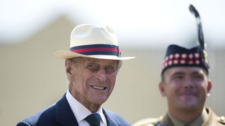 prince philip wearing a hat