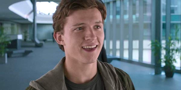 Tom Holland as Peter Parker in Spider-Man: Homecoming