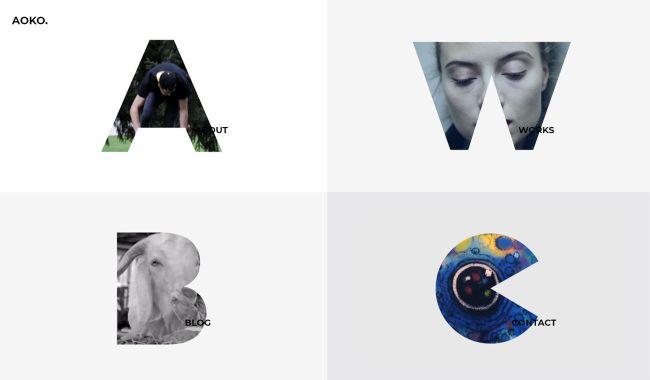 10 on-trend portfolio templates: Aoko